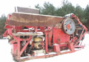 Ref.-Nr:1450 Container-wheeled jaw crusher, crushing plant type 800x550 mm, constructed in January 1994, CAT motor 3304 completely with new bearings and a belt weigher from Pfreundt.