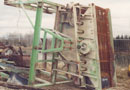 Ref.-Nr:591 screening plant, with sucking unit, 3000 x 1500, complete with electric motor, chassis