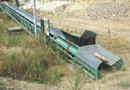 Ref.-Nr:1172 2 pc. of conveyors 20 m and 23 m, width of belt 650 mm each