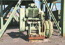 "Ref.-Nr:1024 solid matter pump, manufacturer Linatex, 8"", including a 75 KW drive motor mounted on a basic frame, with wear protection rubber armouring<br> price on demand"